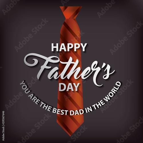 krawat z paskami czarnym tle szczęśliwy dzień ojców najlepszy tata na świecie ilustracji wektorowych