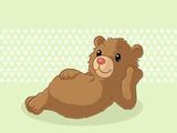 Entspannter Comic Bär