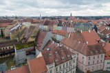 Cheb Eger city town center aerial view, cityscape   - 201376810