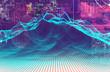 Fondo abstracto de tecnologia y ciencia.Diseño de patron de puntos.Informatica y analisis de big data - 201377676