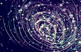 Fondo abstracto de espiral o remolino.Patron de lineas y puntos.Ciencia y tecnologia