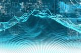Fondo abstracto de tecnologia y ciencia.Diseño de patron de puntos.Informatica y analisis de big data