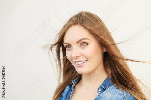 Portrait of seductive woman.
