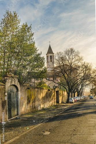 Urban Scene Gianicolo District, Rzym, Włochy