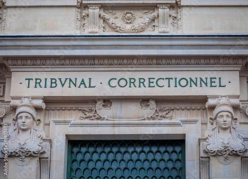 Poster Tribunal correctionnel