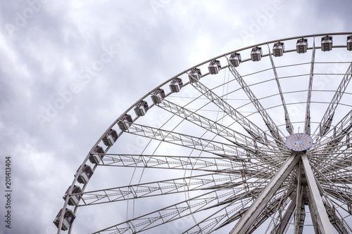 Keuken foto achterwand Amusementspark Big Wheel in Paris