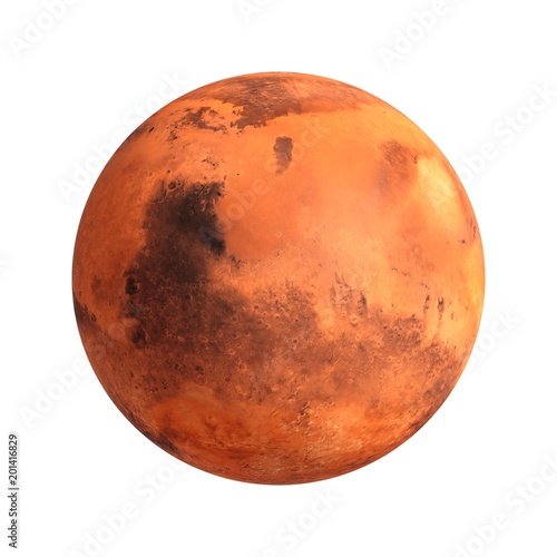 3D Rendering Planet Mars isolated on white - 201416829