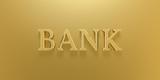3D Illustration Bank Gold Text
