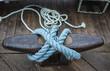 Blue docking rope