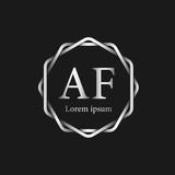 Initial Letter AF Logo Tempalate - 201445497