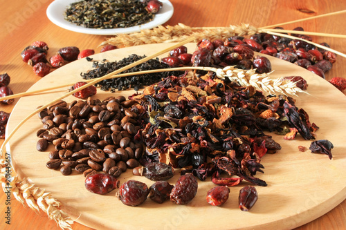 Coffee beans and herbs - 201445657