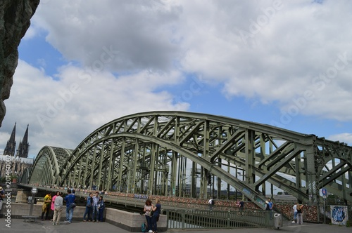 Foto Murales Cologne bridge - panorama