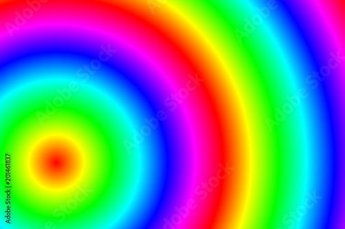 Leinwandbild Motiv Kreise in Regenbogenfarben