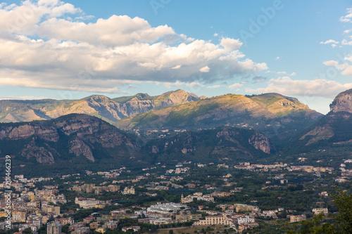 Plexiglas Blauw The beautiful view of Sorento, Italy.