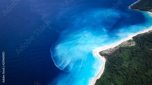 Aluminium Tropical strand Shades Of Blue Of The Solomon Sea #1
