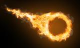 Feuerring mit Feuerschweif