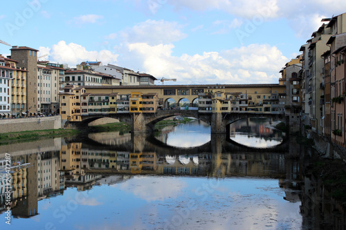 Foto Murales view of old bridge in Florence