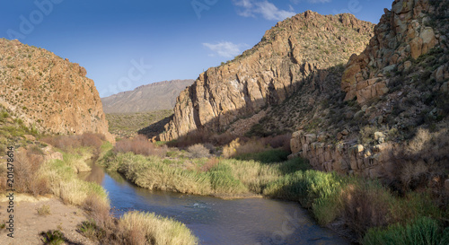 Foto Murales Salt River Canyon at the Globe-Young Hwy 288 at Tonto National Forest, AZ, USA