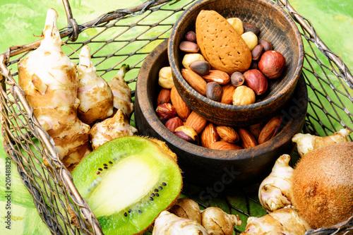 Foto Murales Selection of healthy food