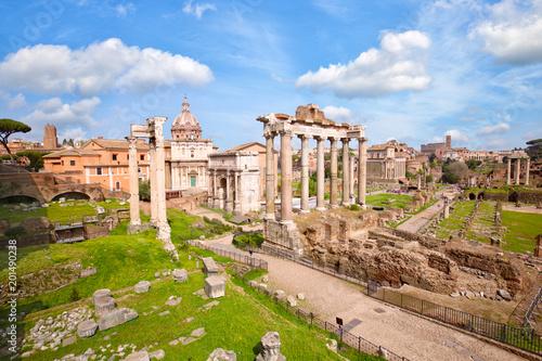 Forum Romanum starożytne ruiny w Rzymie, Włochy