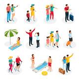Isometric Travelers Characters Set - 201491223