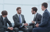 handshake business people in the office. - 201502695