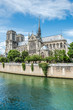 Cathedral of Notre Dame in Paris and the Seine river