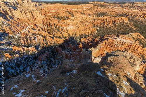 Sceniczny zima krajobraz w Bryka jar Utah