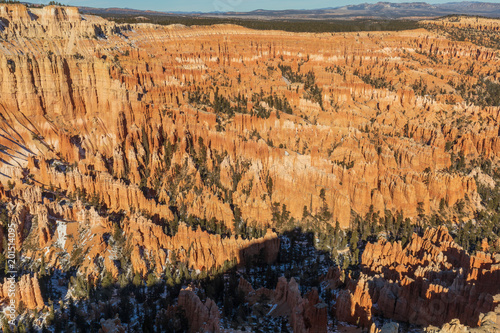 Scenic Winter Landscape in Bryce Canyon Utah