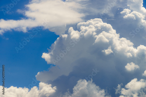 White clouds on blue sky - 201516680