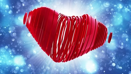 red heart on a bokeh background