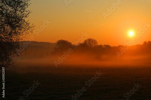 Fotobehang Bruin Sonnenaufgang/ Sonnenuntergang