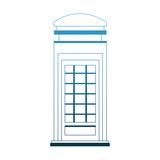 London telephone cabin vector illustration graphic design - 201536465