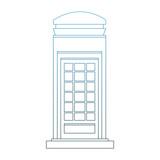 London telephone cabin vector illustration graphic design