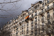 Paris architecture in stormy weather.