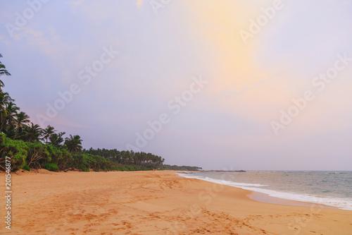 Aluminium Tropical strand fabulous sunset on a beautiful tropical beach