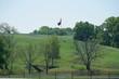 View along the Bluebonents Trail near Ennis, Texas during spring.
