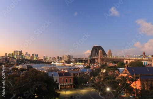 In de dag Sydney Harbour bridge Sydney harbour cityscape Sydney Australia