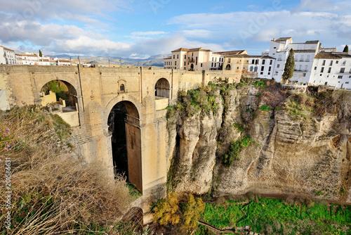 Obraz na płótnie Bridge in Ronda, Spain