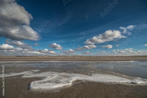 Plexiglas Noordzee Winter Beach