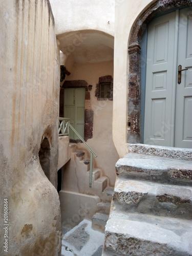 Architektura Emporio, Santorini, Grecja