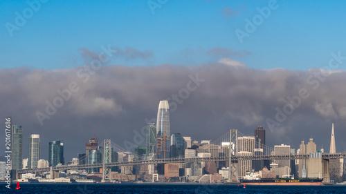 Fotobehang San Francisco Storm behind sf