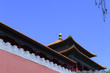 Beautiful buildings in the Forbidden City in China