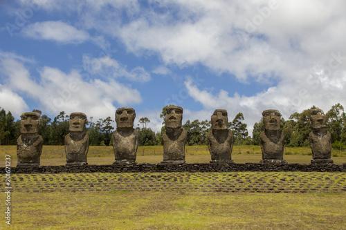 Ahu Akivi, Chile, easter island, Isla de Pascua - 201621237