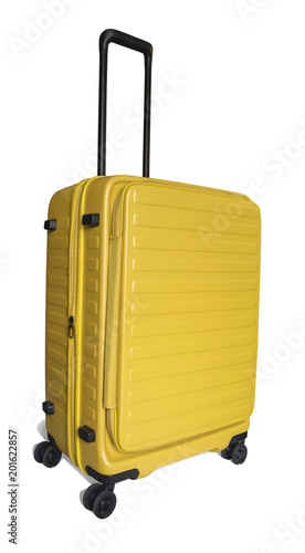 Foto Murales yellow travel beg / luggage / suitcase
