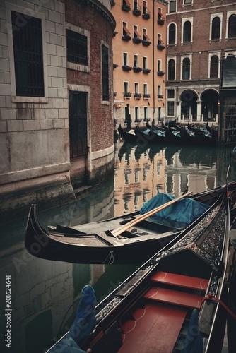 Venice Gondola in canal - 201624641