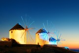 Mykonos windmill night - 201625419