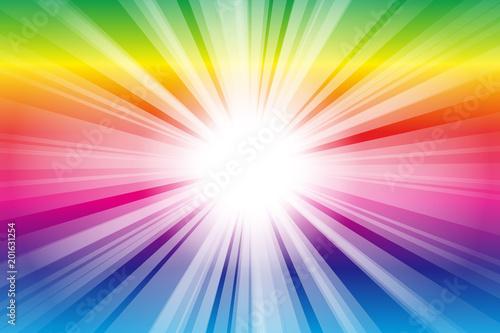 背景素材,光,ビーム,光線,放射光,輝き,煌めき,集中線,放射線,爆発,フレア,眩しい,発光,素材 - 201631254