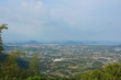 Sea and sky views, city views, harbor and beautiful sea. From the top of the mountain in Phuket, Thailand. - 201635842