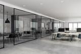Concrete coworking office interior - 201639298